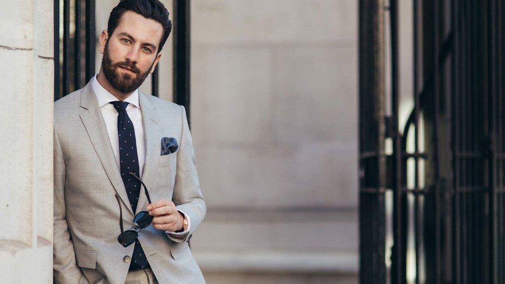 Hugo-Boss formal gray suit