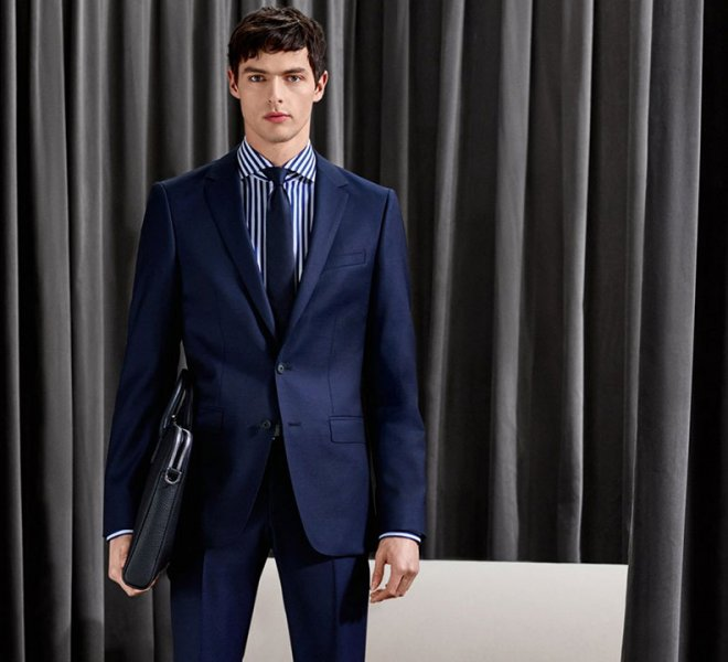 Hugo Boss formal blue suit available in Serb Fashion Store