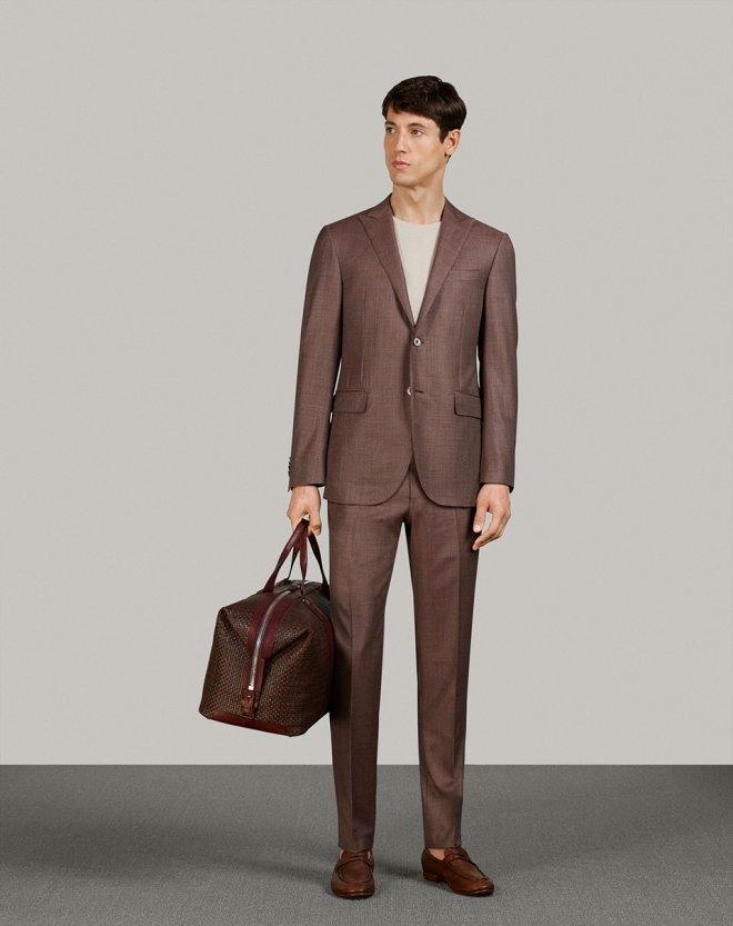 Brown formal suit Corneliani brand in Serb fashion store