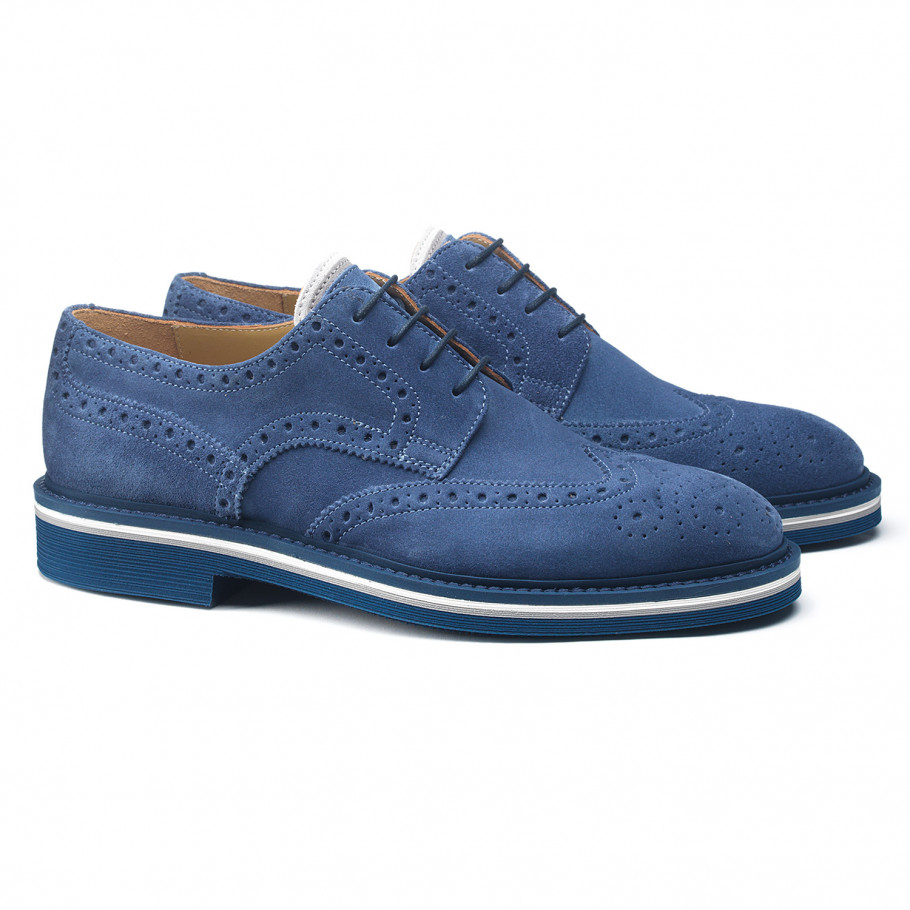 Blue shoes from Serb in Saudi arabia
